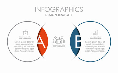 Fototapeta Infographic design template with place for your data. Vector illustration. obraz