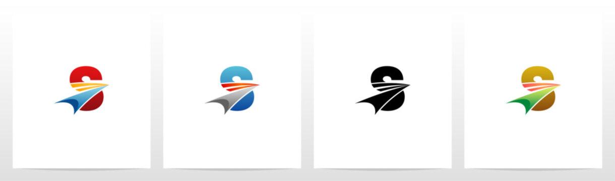 Swoosh Arrow On Letter Logo Design S
