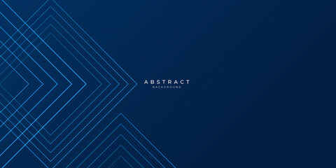 Dark blue dynamic abstract vector background with diagonal lines. Trendy classic color of 2020. 3d cover of business presentation banner for sale event night party. Fast moving soft shadow dots lines