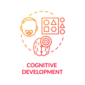 Early cognitive development concept icon. Day care center. Toddlers language learning and childcare. Children assimilation idea thin line illustration. Vector isolated outline RGB color drawing