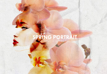 Spring Portrait Photo Effect Layout