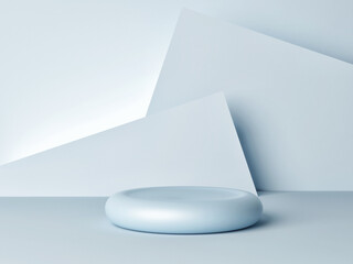 Abstract geometry shape podium minimal style for product presentation, 3d render, 3d illustration