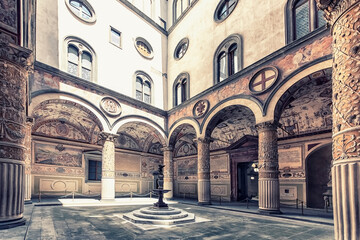 Fototapete - Street in Florence, Italy