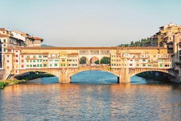 Fototapete - Ponte Vecchio bridge in Florence, Italy