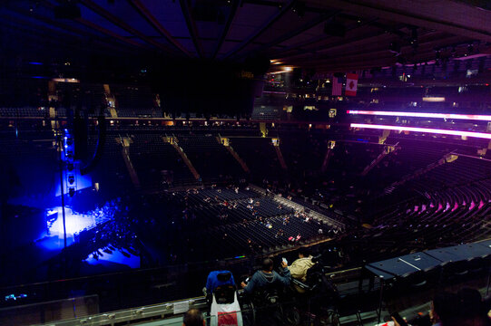 NEW YORK, USA - OCT 8, 2015:  Madison Square Garden, New York City. MSG is the arena for basketball, ice hockey, pro wrestling, concerts and boxing.