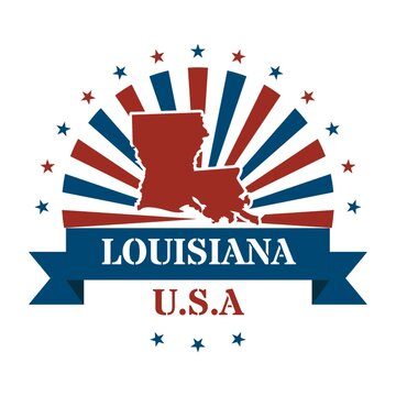 louisiana state map label