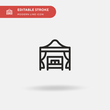 Beach Cabana Simple vector icon. Illustration symbol design template for web mobile UI element. Perfect color modern pictogram on editable stroke. Beach Cabana icons for your business project