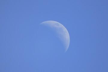 Mond am Tag