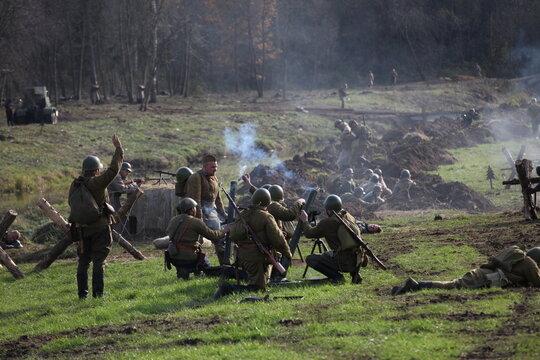 Military show in Borodino field
