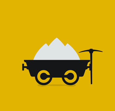 Coal cart, mine chariot