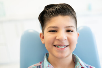 Boy Visiting Orthodontic Center