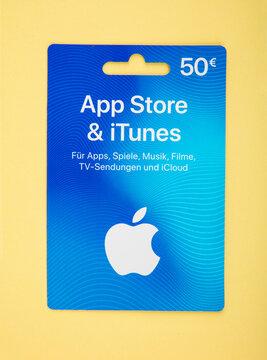 Gift card voucher for apple app