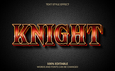 Editable Text Effect, Knight Esport Text Style