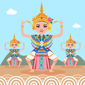 Thai traditional dance - Manorah dance in southern of thailand.