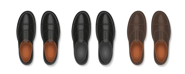 Vector set. Men's shoes. Top view. Wall mural