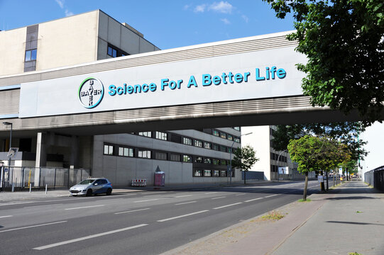 Berlin / Germany - May 8, 2016: Bayer Pharma AG in Berlin, Germany - Bayer is a German multinational pharmaceutical and life science company