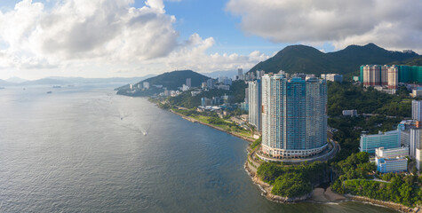 Wall Mural - Aerial view of South side of Hong Kong Island, Daytime