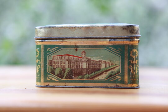 Vintage tin box of chocolates