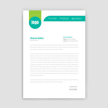 Unique style letter head templates for your Business.