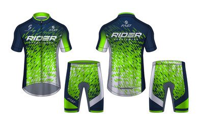 Custom vertical slats sports with your photo Cycling Jerseys mockup,t-shirt sport design template,uniform for bicycle apparel.
