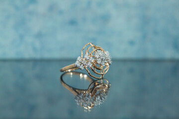 Diamond Jewellery Ring Reflection Photography
