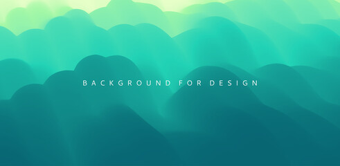 Wall Murals Green coral Mountain landscape. Mountainous terrain. Vector illustration. Abstract background.
