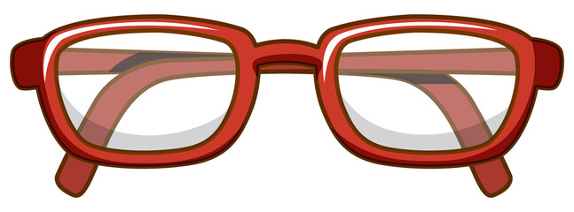 Printed roller blinds Kids Pair of eyeglasses with red frame