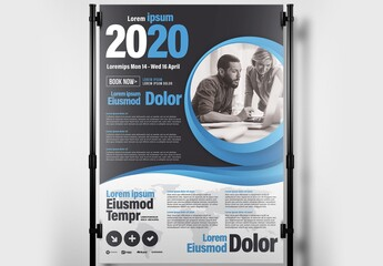 Business Conference Seminar Poster Banner for Corporate Events