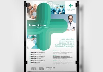 Medical Poster Banner with Modern Style