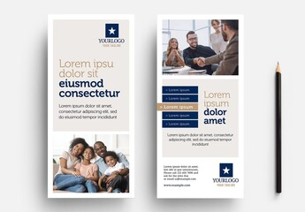 DL Rack Card Flyer with Simple Corporate Theme