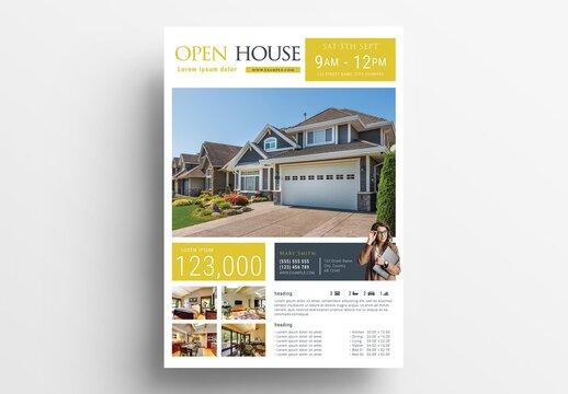 Modern Propertly Listing Sheet for Real Estate Agents