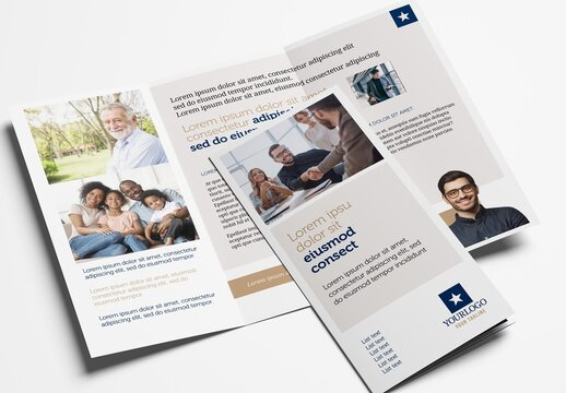 Tri Fold Brochure Template for Corporate Business
