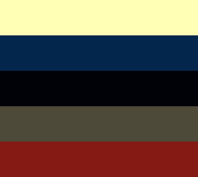 Creative vector illustration of  tone color palette