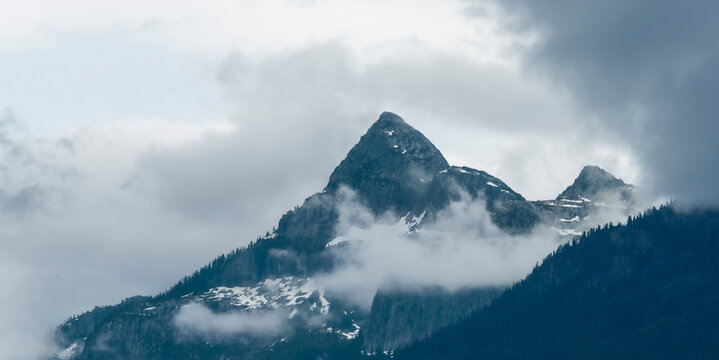 Alpine view of Habrich mountain in early summer. Squamish.