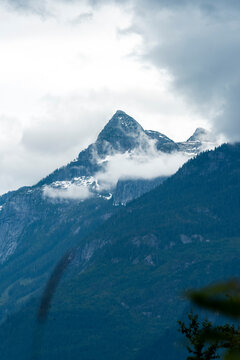 Mount Habrich in the clouds. Squamish.