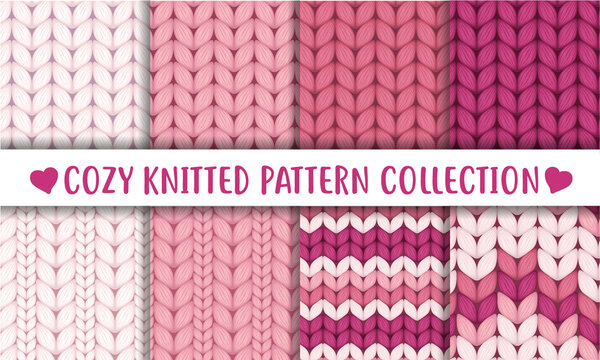 Baby pink  knitted cozy pattern collection