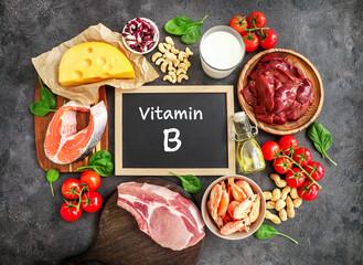 Fototapeta High vitamin B sources assortment obraz