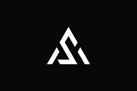 Minimal Innovative Initial AS logo and SA logo. Letter AS SA creative elegant Monogram. Premium Business logo icon. White color on black background