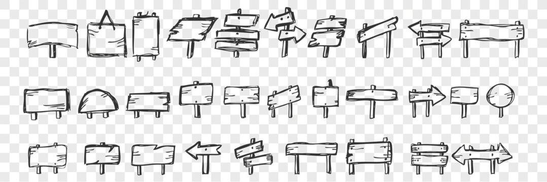 Hand drawn tablets doodle set