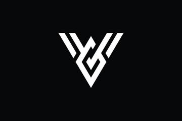 Minimal Innovative Initial VO logo and OV logo. Letter V VV creative elegant Monogram. Premium Business logo icon. White color on black background