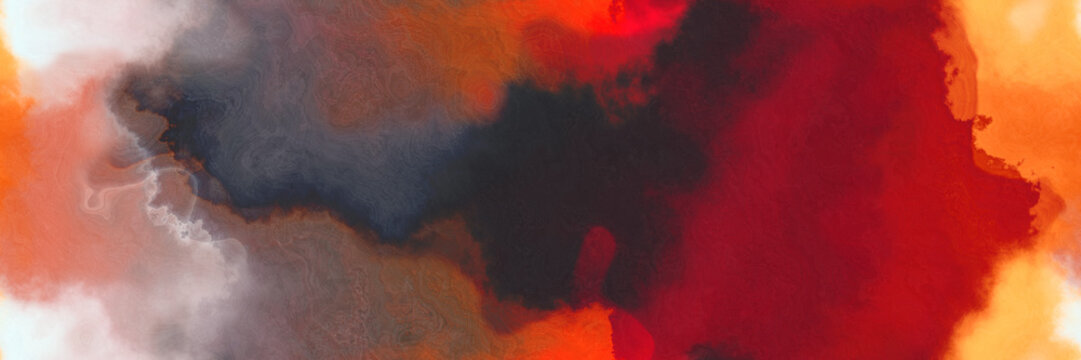 abstract watercolor background with watercolor paint style with dark moderate pink, wheat and tomato colors. can be used as web banner or background