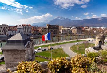 Grenoble. The city embankment.