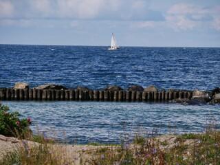 Boot vor der KÜste Rügens