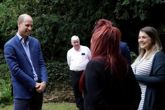 Britain's Prince William, Duke of Cambridge visits the Garden House in Peterborough