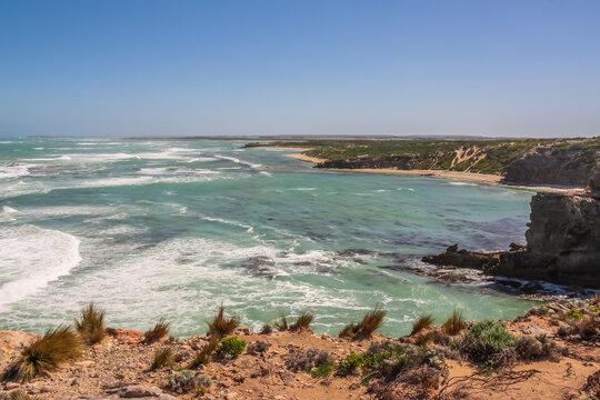 View of the sea shore near Mt Gambier, South Australia