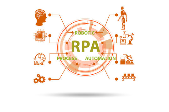 Illustration of RPA - robotic process automation