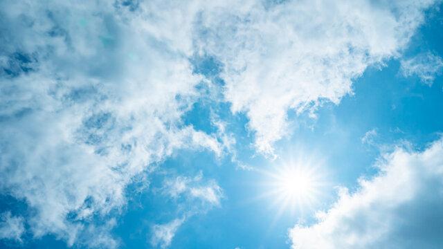 太陽・青空・雲