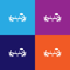unpleasant conversation icon. Element of colleagues icon for mobile concept and web apps.