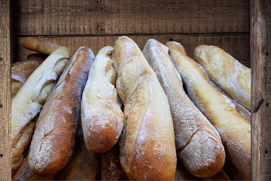 fresh bread out of the oven