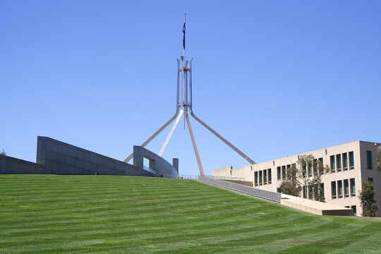 CANBERRA, AUSTRALIA - NOVEMBER 8, 2009: Parliament House is the meeting place of the Parliament of Australia, located in Canberra, the capital of Australia